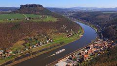 Für mich der Klassiker Nummer eins von der Festung Königstein, diese Sicht...