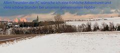 Fürstenau weit oben im Osterzgebirge am 1. Dezember
