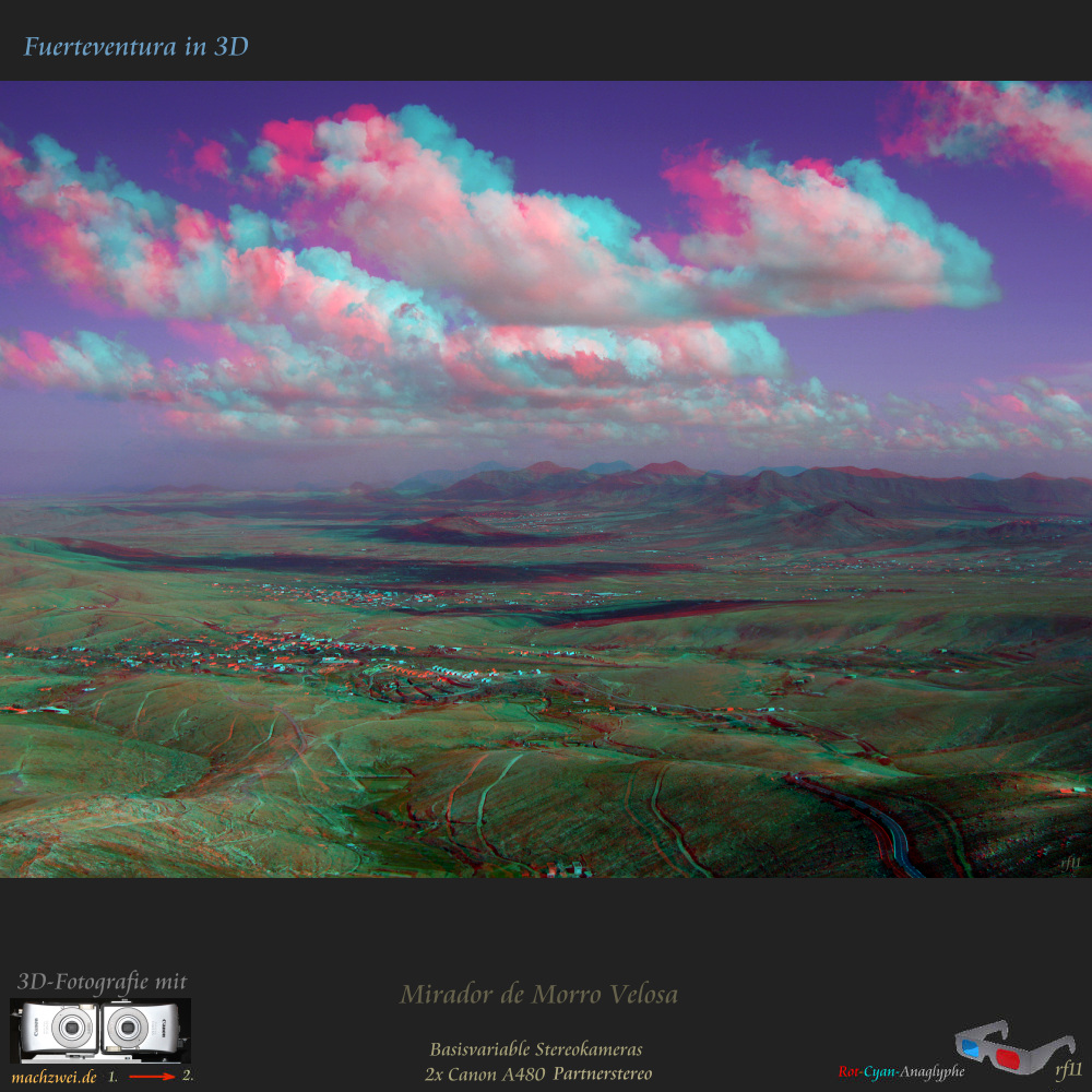 Fuerteventura in 3D : Mirador de Morro Velosa - Partneraufnahme