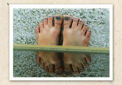 Füße gespiegelt
