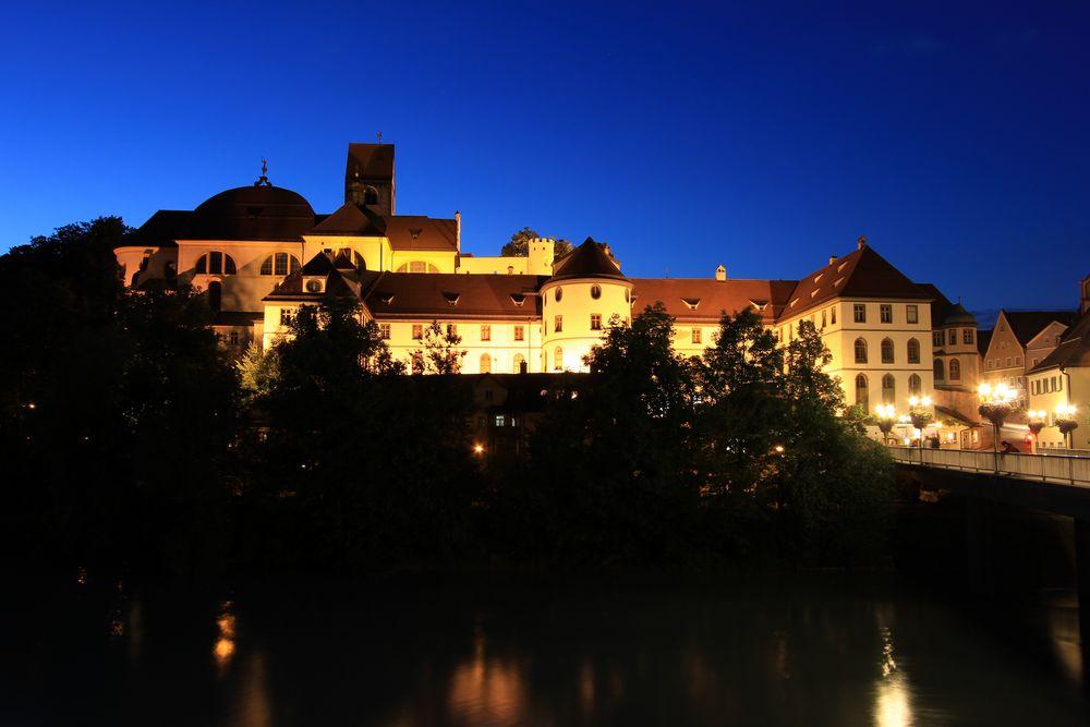 Füssen am Lech bei Nacht