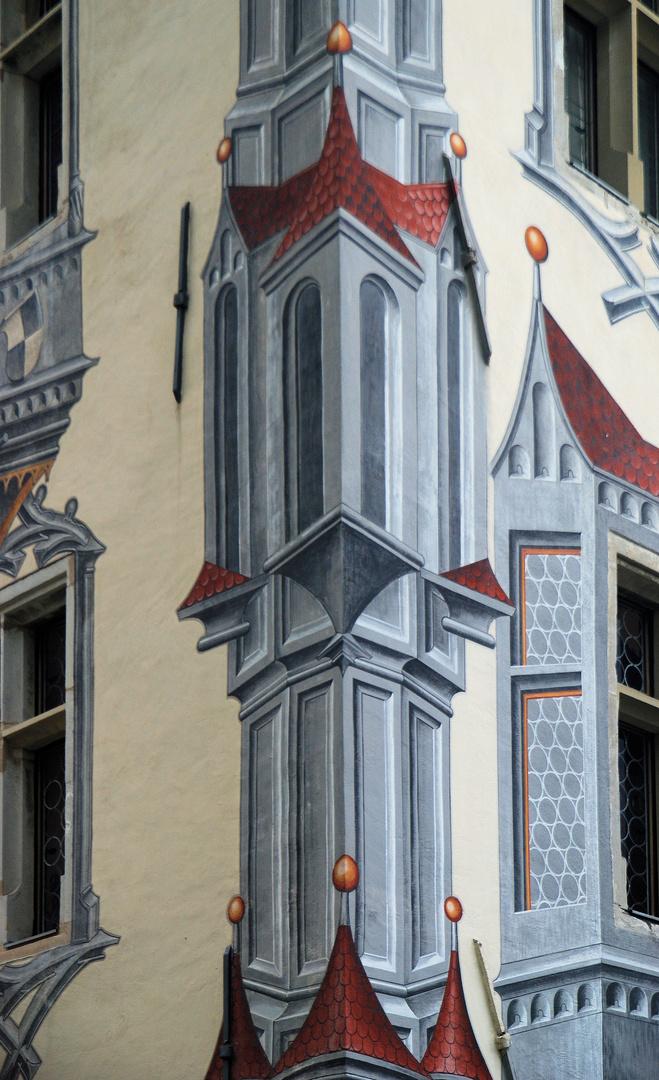 Füssen Hohes Schloss Illusionsmalereien/Erker
