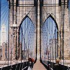 Füßgängerweg über die Brooklyn Bridge