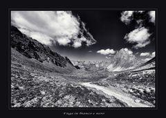 Fuga alpina in bianco e nero...