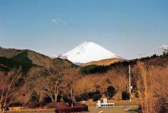 Fuji in der Morgensonne [von Hakone aus] (MW 1997/2 - jc)