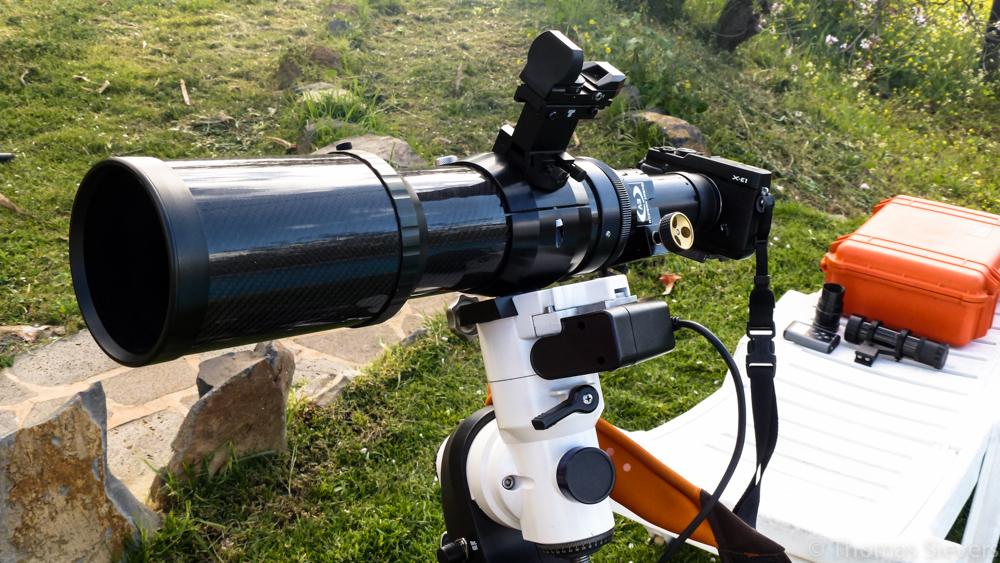 ... Fuji X-E1 mit Lomo 80/480mm (480mm f6) - mein Setup ...