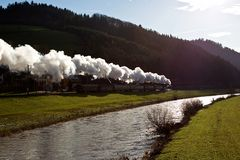 Full steam behind