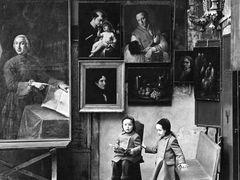 Fulvio Roiter - mercatino dell'antiquariato, 1970