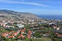 Funchal auf Madeira vom Pico dos Barcelos