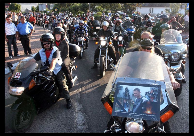 funeral of motorcyclist