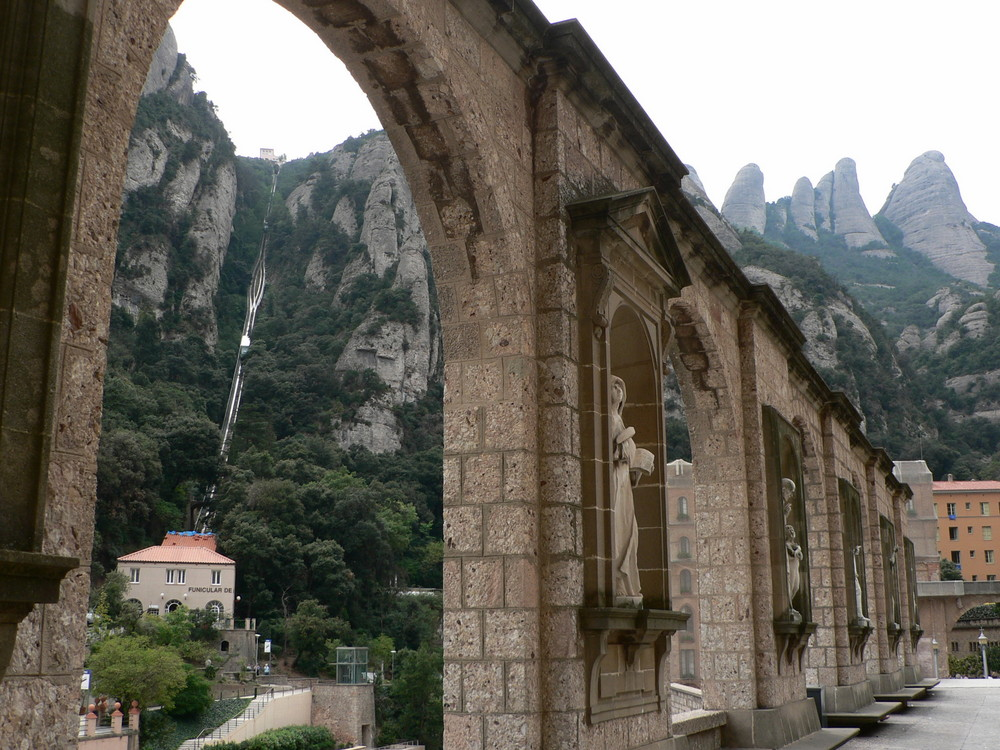 Funicular de Montserrat - to ta superstroma kolejka po lewej
