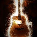 Funkelnde Gitarre