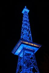 Funkturm in Blau
