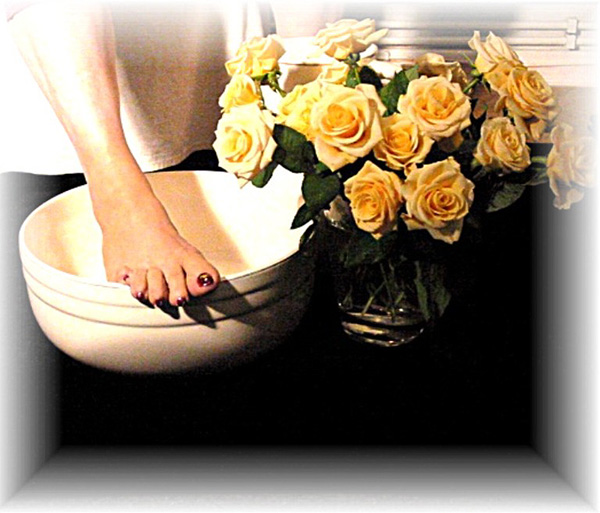 Fuß für Werbeprospekt-Fußpflege
