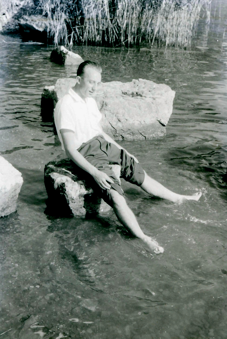 Fußbad um 1950