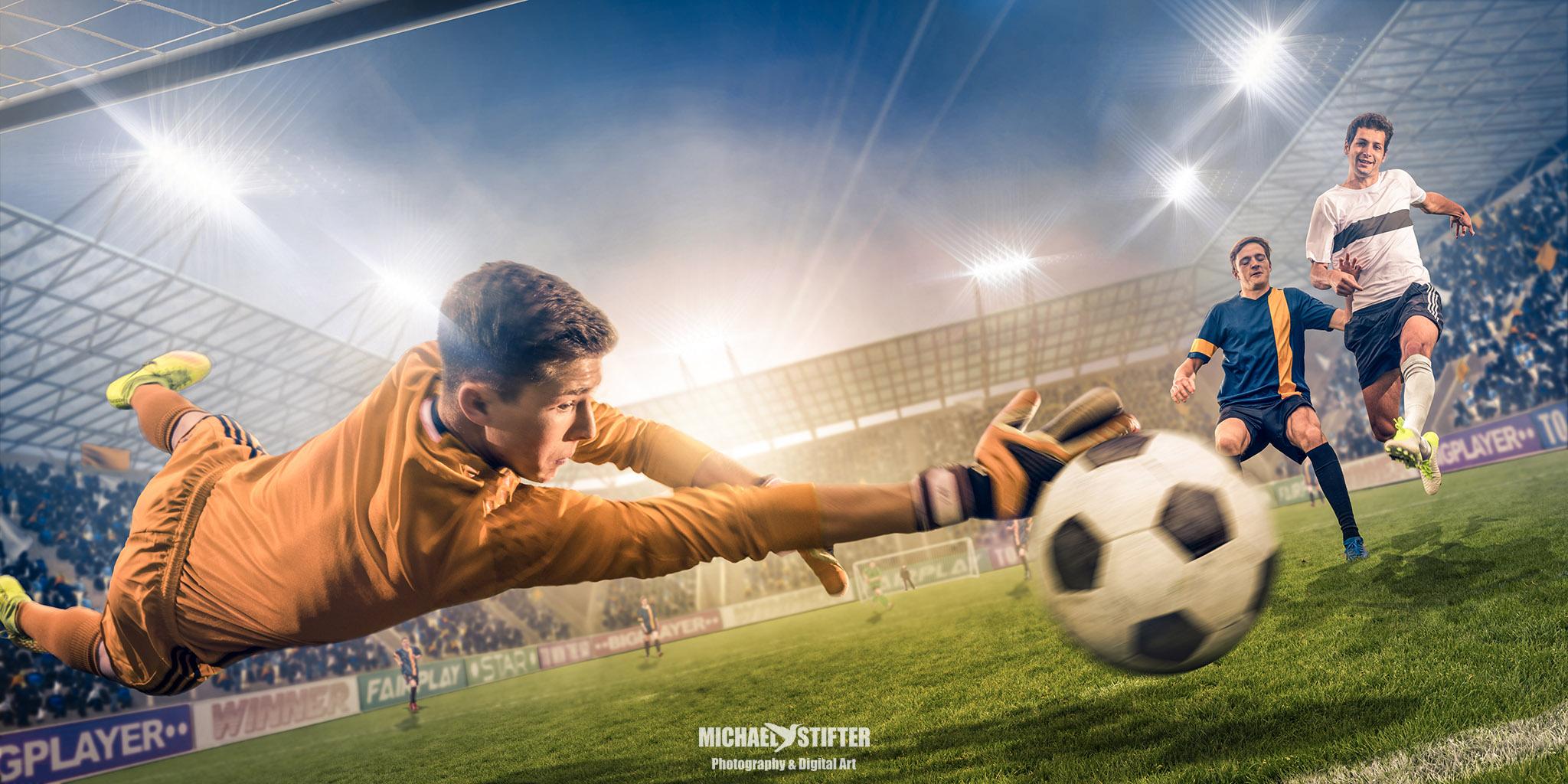 fussball  sturm auf's tor foto  bild  fotomontage