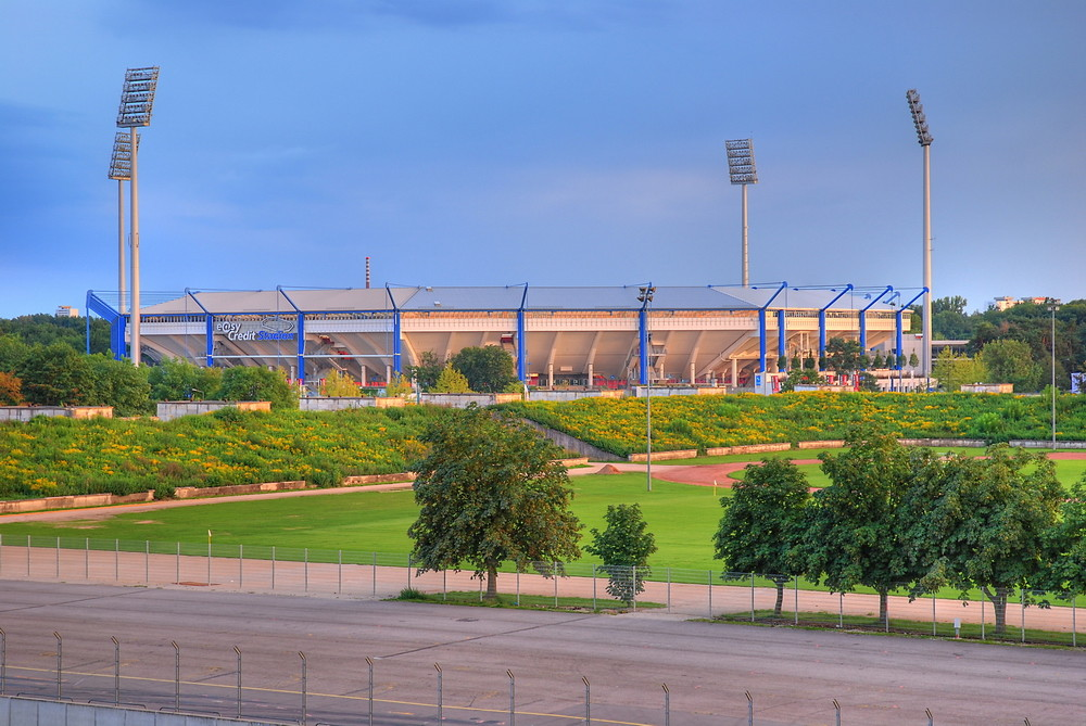 Fußballstadion -Easy Credit Stadion- in Nürnberg am Dutzendteich