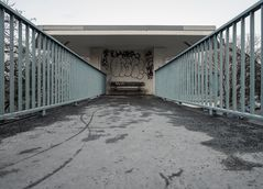 Fußgängersteg, Putlitzbrücke Berlin April 2013
