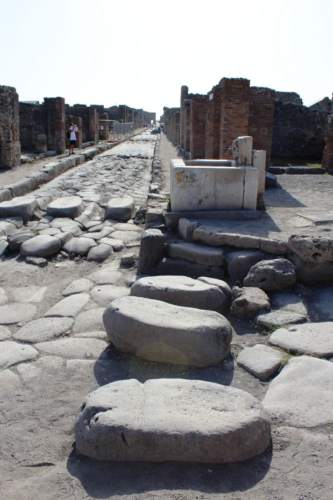 Fußgängerüberweg in Pompeji