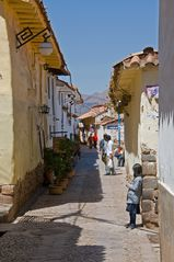Fußgängerzone in Cuzco