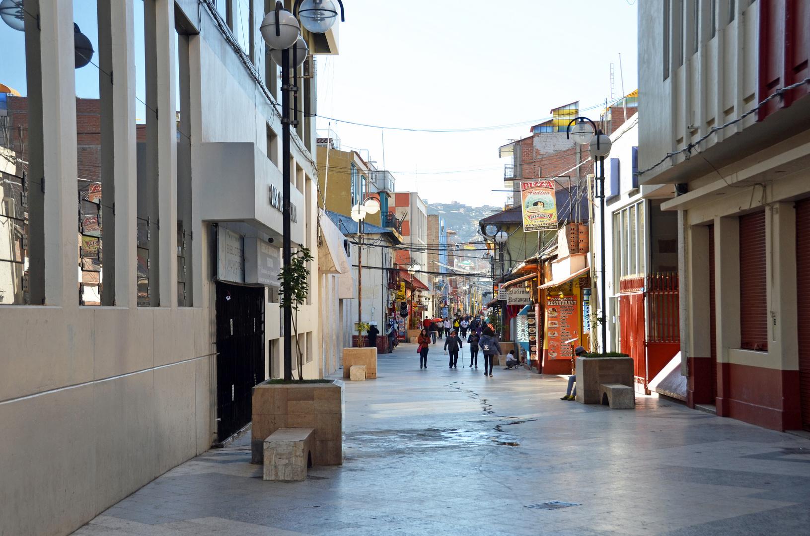 Fußgängerzone in der Stadt Puno