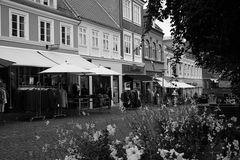 Fußgängerzone in Svendborg, Dänemark