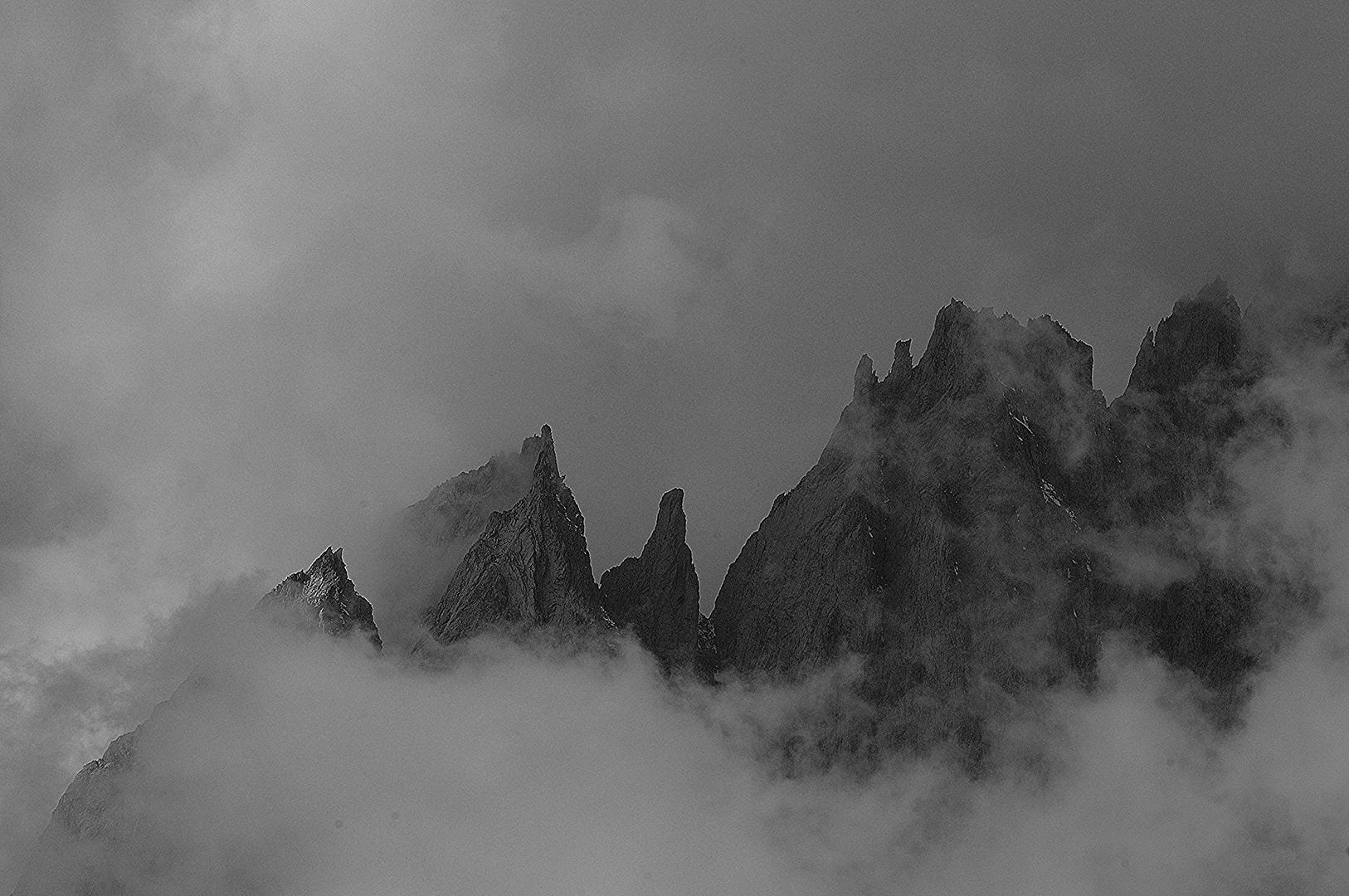 Fusshörner im Nebel