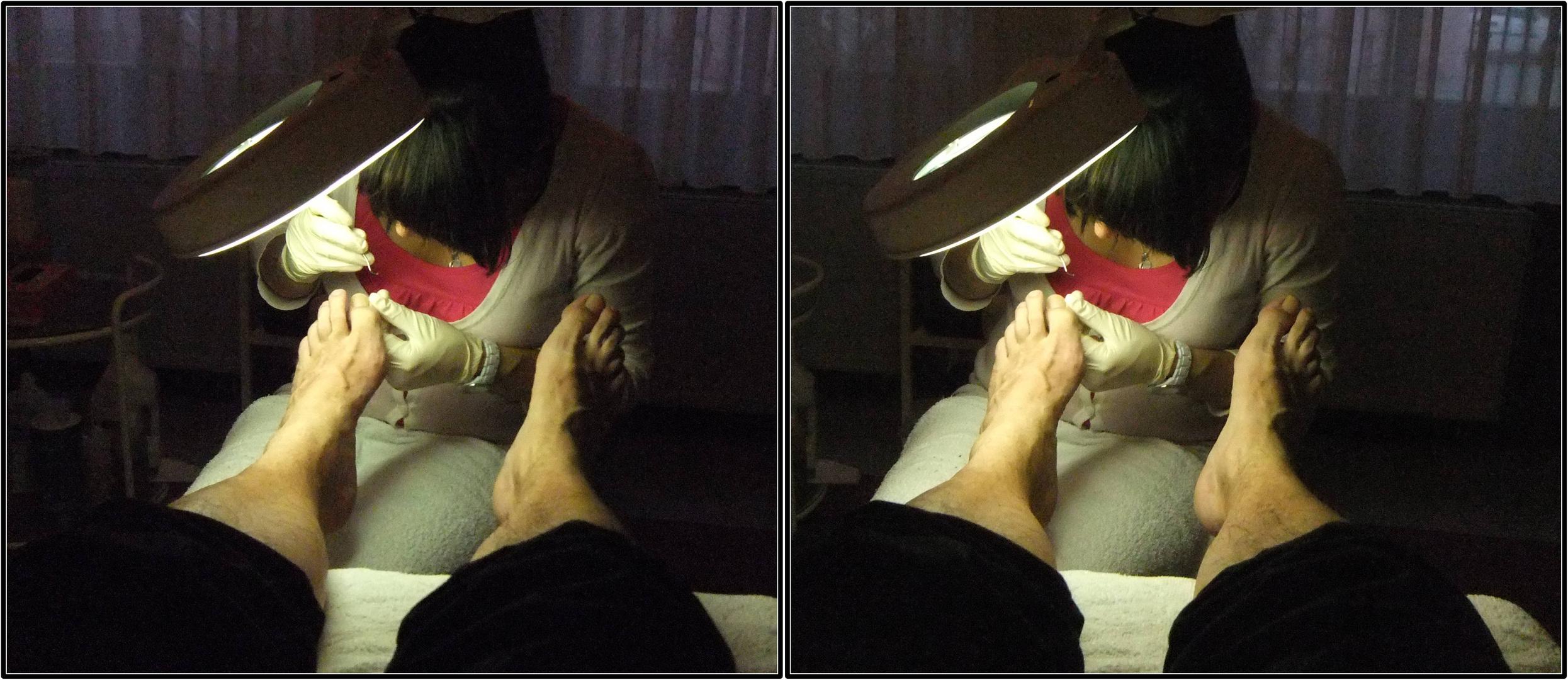 Fußpflege 3D Kreuzblick