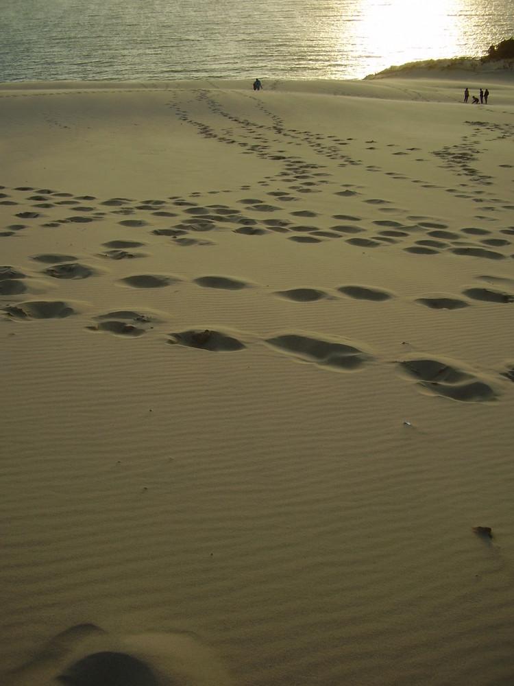 Fußspuren auf Dune de Pyla