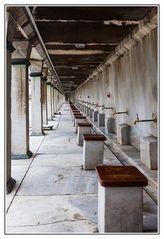 Fußwaschplätze Blaue Moschee