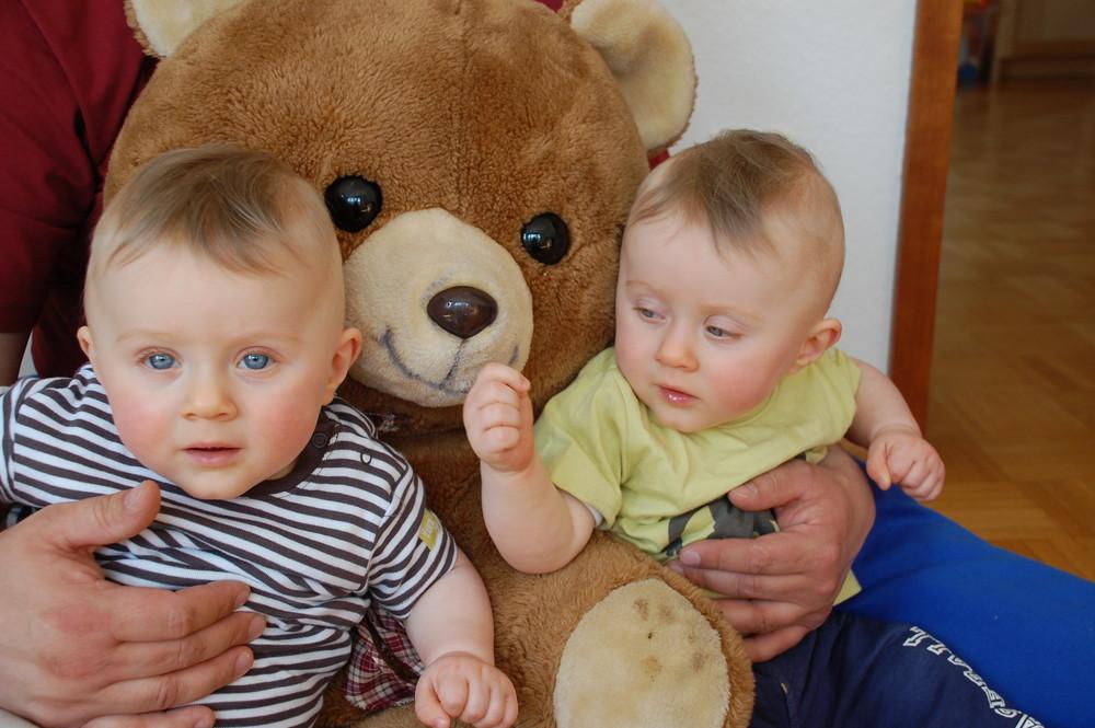 Fynn-Louis und Bruno der Braun Bär