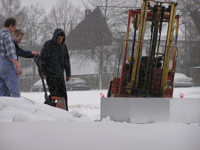 Gabelstabler und Schnee (Teil 2)