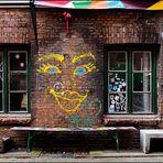 Gängeviertel Fenster mit Gesicht