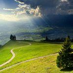 Gafadura-Alm - Lichtschauspiel über Liechtenstein