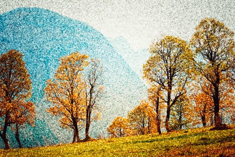 Galerie - Fotoaquarelle und Impressionen | Pointillismus #niederrheinfoto