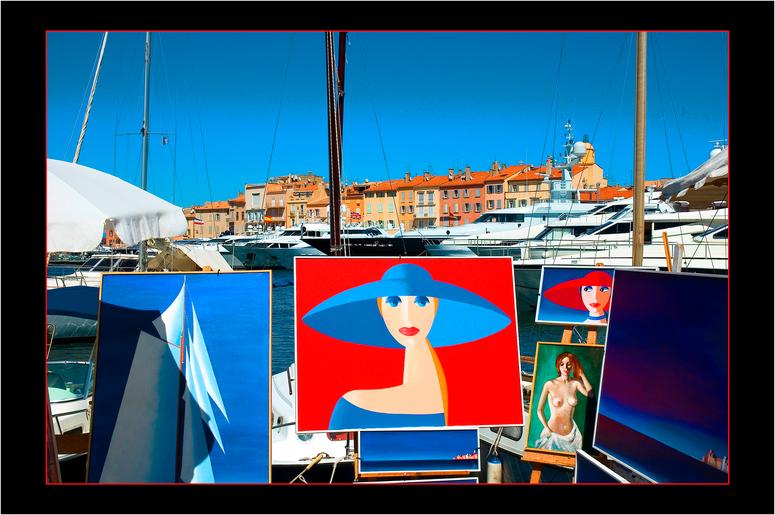 Galerie im Hafen von St.Tropez