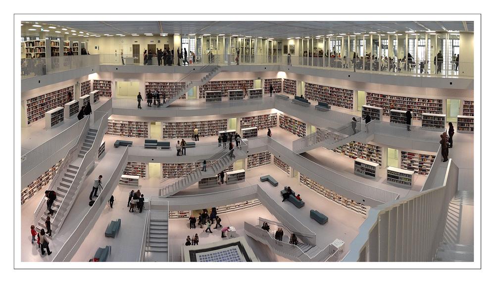 Galeriesaal der Neuen Stadtbibliothek Stuttgart, Schwenkpanorama