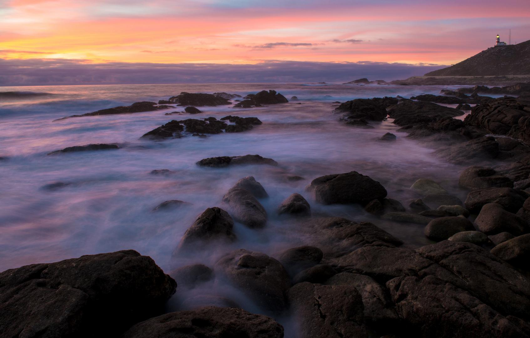 Galizien Abendsonne über der Küste