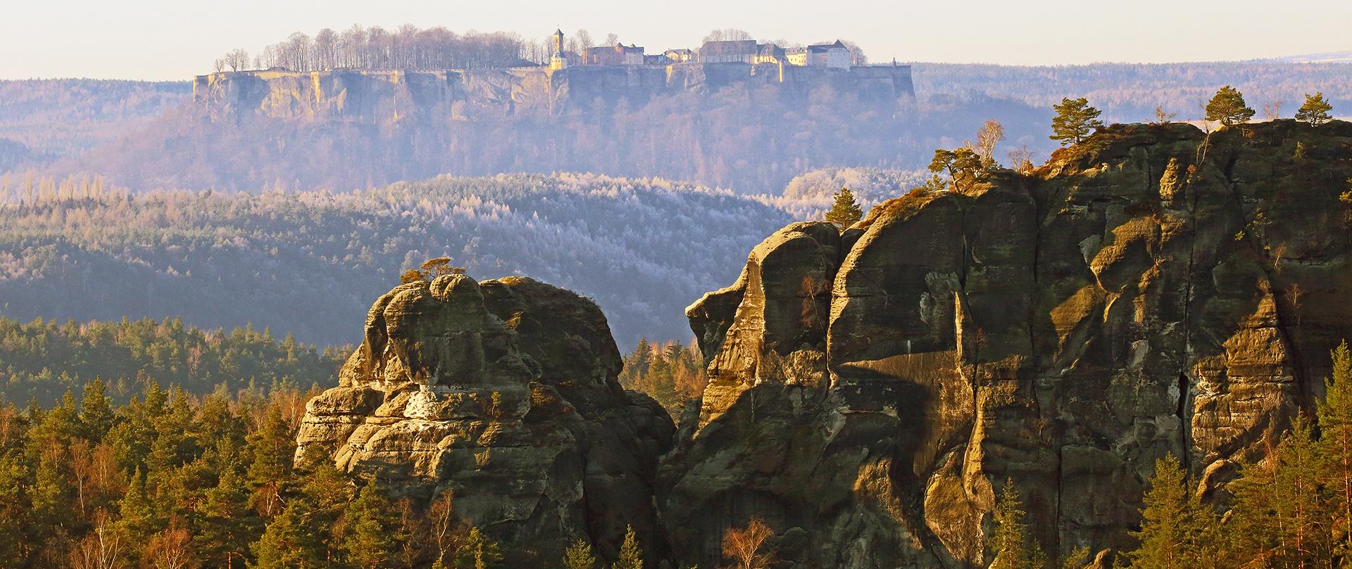 Gamrig und die Festung Königstein von Vorgestern morgen...