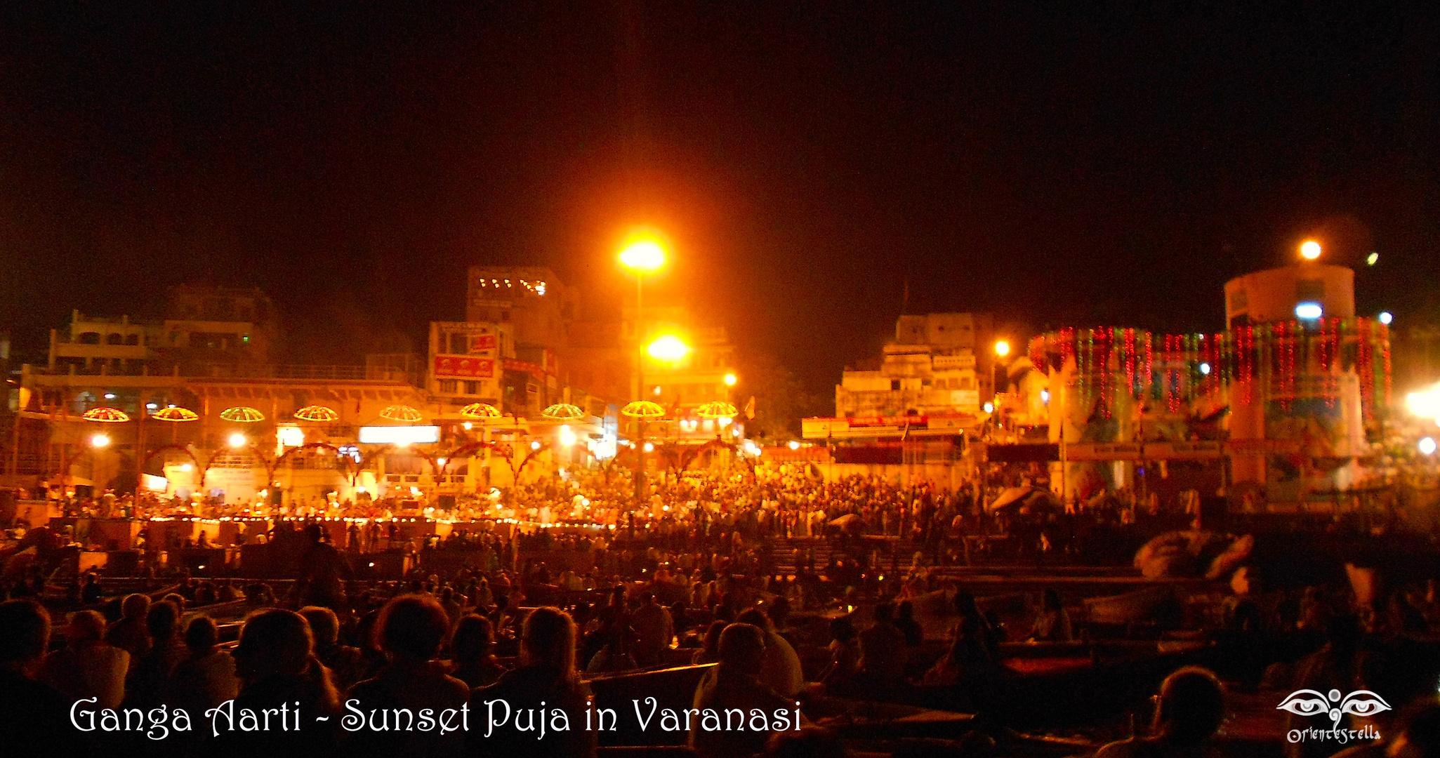 Ganga Aarti - Sunset Puja in Varanasi