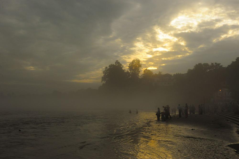 Ganga River .