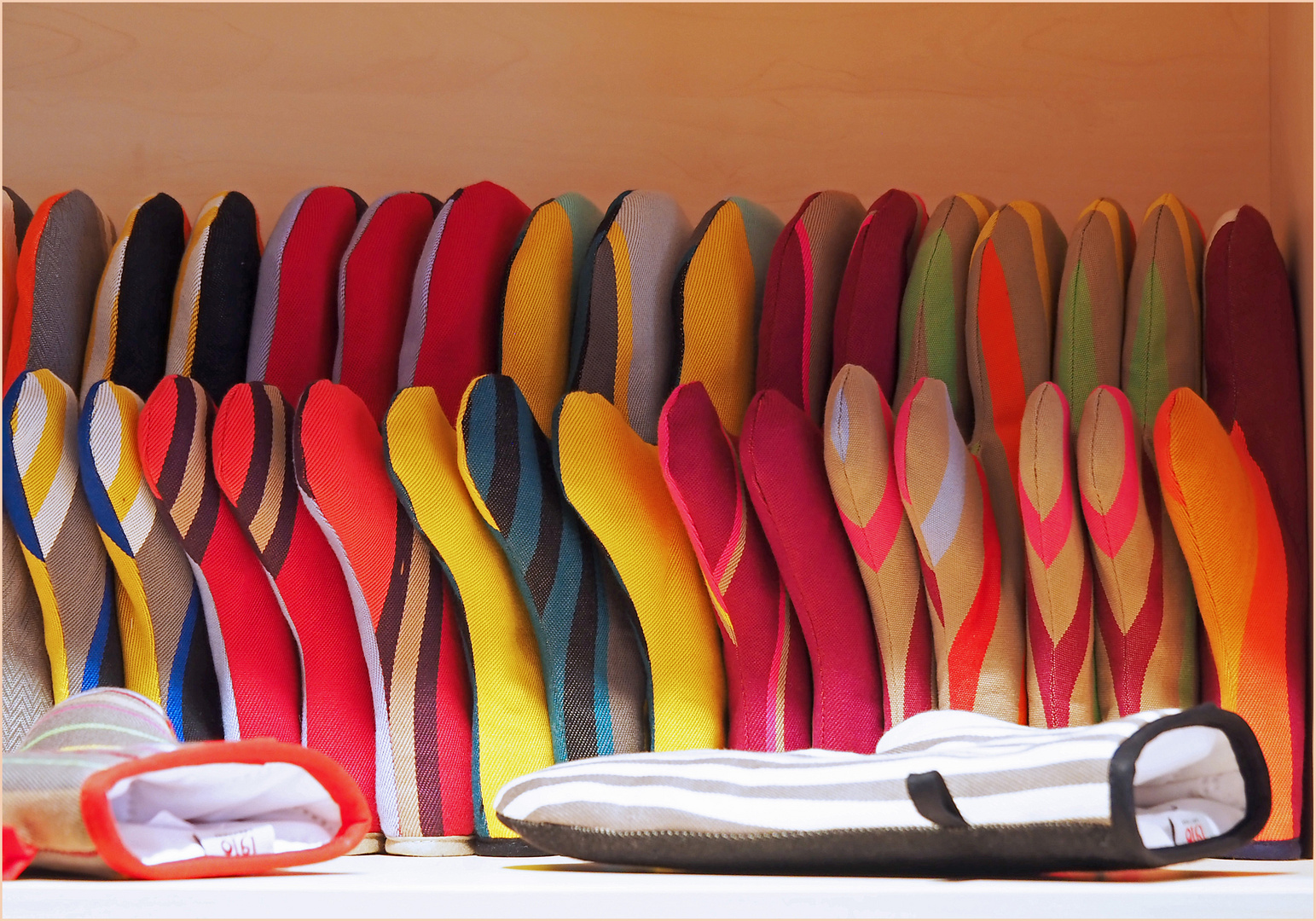 Gants de cuisine en toile Basque