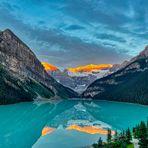 Ganz früh morgens am Lake Louise, Alberta, Canada