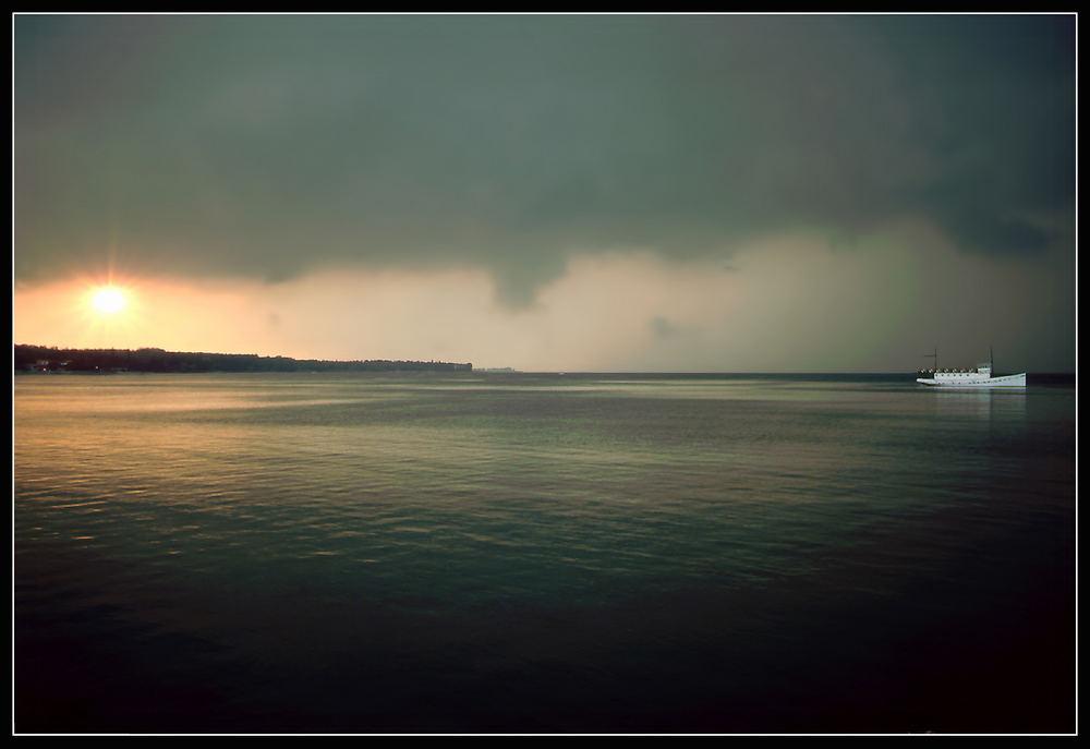 Gardasee nach einem Gewitter