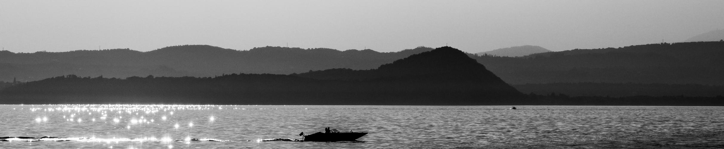 Gardasee schwarz-weiß #13
