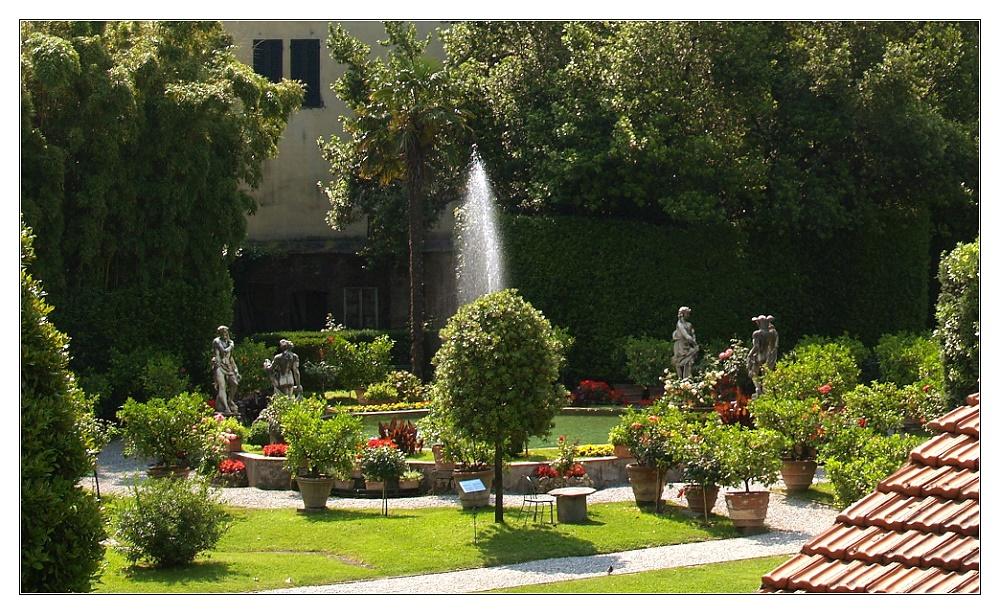 Garten des Palazzo Pfanner-Controni