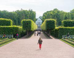 Gartenanlage beim Katharinenpalast in Puschkin