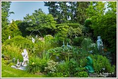 Gartenidylle im Sommer