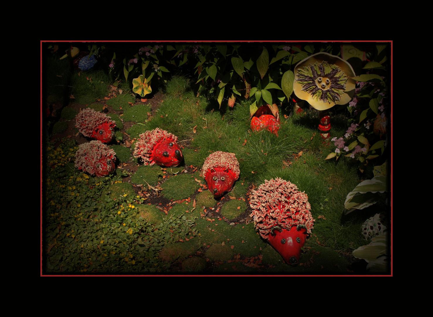 Gartenspass in rot