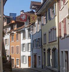 Gasse im schweizerischen Laufenburg